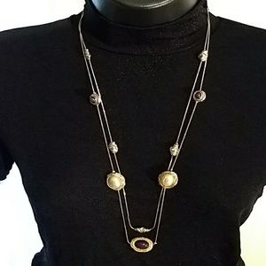 Gold Plated Necklace w/ Double  Chain